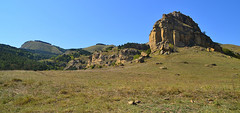 Cape created by winds (МирославСтаменов) Tags: russia kislovodsk caucasus mountain rocks sandstone steppe slope cape