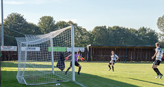 East Yorkshire Carnegie (nonleaguepap) Tags: east yorkshire carnegie humberside hull dunswell green grass pitch blue sky white clouds football footballers players action photos shots northern counties league non harworth colliery dene park nottinghamshire saturday september 2018 red black shirts socks shorts boots stadium ground