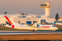 [ORY.2017] #HOP! #A5 #Airlinair #ATR #ATR72 #F-HOPL #awp (CHRISTELER / AeroWorldpictures Team) Tags: opby airlinair atr 72 msn 1283 reg fhopl eng 2x pw100150 cab y72 history aircraft built first flight test fwwel toulouse lfbo france delivered an rla operated a5 hop at7 atr72500 sunset twr atc paris orly ory lfpo french airlines airways european rwy aeroworldpictures chr lightroom d300s nikon nikkor 70300vr raw cn