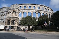 Amphitheater Pula (ORIONSM) Tags: pula croatia ampitheater arena building architecture blue sky ruins roman travel vacation panasonic tz100