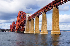 Forth Bridge (p.mathias) Tags: scotland scottish rail bridge forth train united kingdom uk unesco europe sony a5100 history engineering edinburgh railway firth water sea sky ocean landscape mountain bay boat people