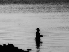 les pieds dans l'eau... (photosgabrielle) Tags: photosgabrielle bwphotography noiretblanc people rimouski fleuvestlaurent
