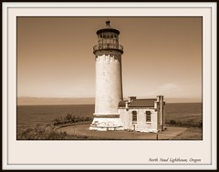 North Head Lighthouse (Gillian Everett) Tags: north head lighthouse oregon washington sepia historic manipulated duc 1081 disappointment cape