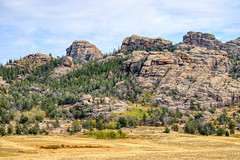 Wyoming Landscape C13 (jimmy.stewart40) Tags: landscape nature rockformations ruggedterrain mountain trees grass green sky blue clouds outdoors scenic