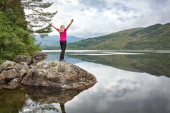 Hello Weekend! (Ranveig Marie Photography) Tags: lund kalvanes rusdalsvatnet rogaland dalane selfie selfportrait myself pink woman blonde norway norwegian reflection
