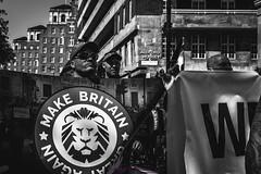 IMG_8667 (KitsuneUK) Tags: london protest tommy robinson photo photojournalism journalism canon bnw bw black adobe film