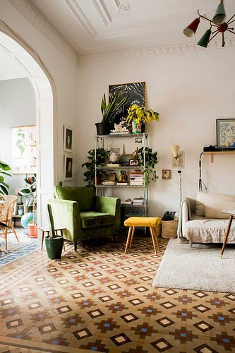 Furniture  - Entryway : Love this pattern And color filled floor tiles