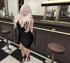 #88 Pretty Black Dress (freyaserendipity) Tags: bombshell besom catwa maitreya equal bf secondlife train dance