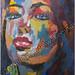 """""""Fusion"""" by Cassandra C, acrylic, $130.00"""