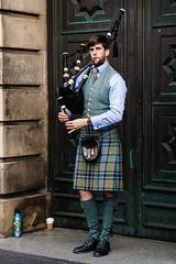Bagpiper on the Royal Mile in Edinburgh (p.mathias) Tags: royal mile bagpiper bagpipe bagpipes piper scotland edinburgh tartan scot scots scottish sony a5100