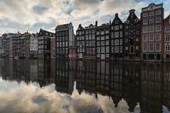 Amsterdam, The Netherlands HDR (Brandon Kopp) Tags: 1635mm d750 hdr nikon reflecting reflection sunrise travel vacation amsterdam europe thenetherlands nederlands holland clouds cloudy canals