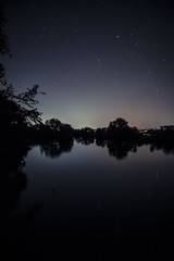 Night Sky @ Baiersdorf (markus spiske) Tags: avenue black dark darkness forest gloom light lightbeam lighttrace lightingeffect night reflection river sky star stars stream street timeexposure track tree