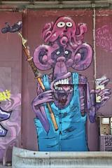 . (just.Luc) Tags: graffiti grafitti streetart urbanart france frankrijk frankreich francia frança bordeaux gironde nouvelleaquitaine purple paars lila pourpre bleu blue blu azul blauw blau chimpanzee chimpanzé chimpansee