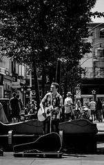 Super Star, Southport (bobbex) Tags: merseyside lancashire seaside resort britain england busker streetmusic streetmusicians performer guitar guitarist bw blackandwhite blackwhite