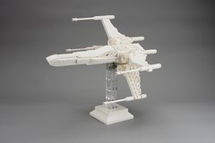 X-Wing T65 Fighter Midi-scale Monochrome (Pasq67) Tags: lego pasq67 afol toy toys flickr legography 2018 france moc starwars star wars xwing fighter midiscale incom t65 starfighter monochrome white