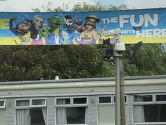 Pontins Camber Holiday Park, New Lydd Rd, Camber, Rye, East Sussex (LookaroundAnne) Tags: gwuk holidaypark holidaycamp eastsussex sussex camber sands seaside banner pontins