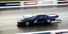 Flaming exhaust_3085 (Fast an' Bulbous) Tags: drag race strip track car vehicle automobile doorslammer motorsport nikon outdoor santa pod promod musclecar