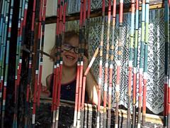 smile (Me Lykke) Tags: smile kid children girl laugh rattan curtain window glass