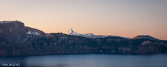 Mt Thielsen (Nick Kanta) Tags: color craterlake craterlakenationalpark d90 lake mtthielsen nationalpark nikon oregon outdoorphotography pano panoramic sky snow sunset tamron1750 water