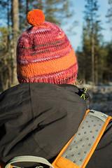 Pom Pom hat (Winterbound) Tags: knitting handknitted handmade beanie hat pompom