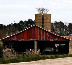 A barn on the Stewart family land  holds and stores farm supplies for future use.
