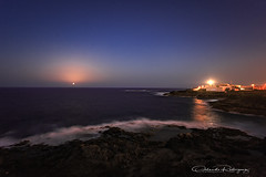 Field of stars (Instagram: orlan_rs) Tags: nocturna nighphotography mar sea lighthouse moon luna