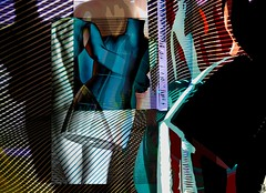 Moving out (Bamboo Barnes - Artist.Com) Tags: photomanipulation photograph abstract human mannequin light shadow black blue yellow red bamboobarnes digitalart art