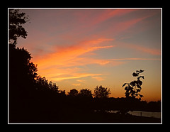 Sunset Silhouette (bigbrowneyez) Tags: beautiful gorgeous nature natura sunset strking sunsetsilhouette striking fabulous stunning amazing delightful bello bellissimo cielo clouds nuvole alberi ottuno autumn september ottawa remicrapids frame cornice colours colourful water river fantastic silhouette