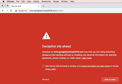 Chrome Security Alert by Wesley Fryer, on Flickr