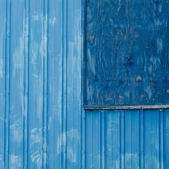 Opportunity Knocks (jtr27) Tags: dscf0641xl jtr27 fuji fujifilm xt20 xtrans nikon nikkor micronikkor 55mm f35 manualfocus blue abstract square building plywood newhampshire nh newengland