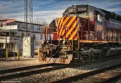 Delmarva Central Railroad Locomotive No. 3506 in Downtown Harrington Delaware (PhotosToArtByMike) Tags: harringtondelaware delmarvacentralrailroadco locomotive rrtracks downtownharrington railroadtracks harrington delaware kentcounty delawarestatefair locomotiveno3506
