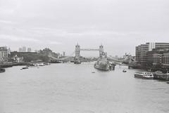 River Thames. (goodfella2459) Tags: nikonf4 afnikkor50mmf14dlens adoxsilvermax100 35mm blackandwhite film analog london thamesriver towerbridge river city buildings bwfp