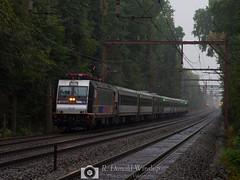 Dark Greenery (R. Donald Winship Photography) Tags: alp46 essexcounty mountainstation nj njtransit njtbombardieralp46 njtr4608 trainsandrailroad