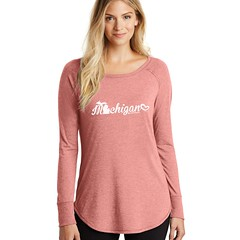 Michigan Cursive Women's Ultra Soft Scooped T-Shirt (Livnfresh Michigan) Tags: livnfresh michigan