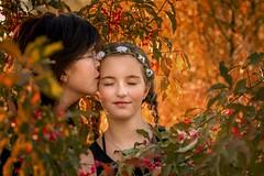 Mummy & me (Irena Rihova) Tags: love dream naturallight nature colors autumn hair kiss closedeyes tenderness female teenager daughter motherhood mother family portraiture portrait