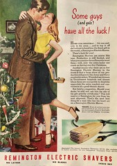 They Have all the Luck (saltycotton) Tags: holidays christmas gifts husband wife remington razor shaver theamericanlegionmagazine vintage magazine advertisement ad 1945 1940s