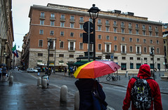 Coulored rain (Pablo Gil Rodriguez) Tags: roma street colourful streetphotography streetphoto colour rain rainy umbrella italia europa italy europe