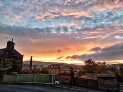 Nicer than usual (tubblesnap) Tags: motorola silsden steeton sunrise morning early snapseed yorkshire scenery landscape commute aire valley airedale town bridge canal blurred