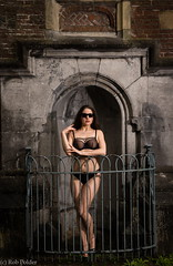 beauty behind bars (robpolder) Tags: 2018 joy naarden rvt model woman lingerie sexy fence building