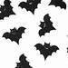 Black bats on white background for Halloween