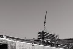 Altus (pni) Tags: monochrome sky crane building construction site concrete steel pasila böle helsinki helsingfors finland suomi pekkanikrus skrubu pni