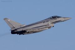Royal Air Force, Typhoon FGR4, ZK337. (M. Leith Photography) Tags: royal air force raf typhoon jet lossie lossiemouth moray morayshire scotland sunshine nikon 200500mm nikkor mark leith photography fast sky airplane aircraft fgr4 qra cockpit