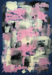 Winter party (Kate O'Kina) Tags: art artist abstract abstractionism winter party white pink blue black paint painting painter paintings kateokina