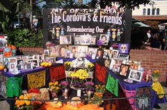 Day of Dead in LA - Family Offering / Ofrenda Familia (ramalama_22) Tags: la los angeles california day dead dia muertos olvera street union station offering ofrenda family familia tradition flower flore marigold bread pan photo deceased