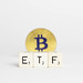 ETF text with Bitcoin