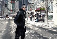 I'll Be Home for Christmas (Sadwolf SL Photos) Tags: uber newyorkchristmas nativeurban snow jacket cap shades glasses cold city street slfashion slphotographer slmodel mesh bento avatar sl secondlife slmenfashion