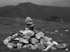 StoneTowerTatraETRSiNet (Fotopokusa) Tags: bronicaetrsi zenzanon10535 rolleiinfrared400 mediumformat filmtype120 645 rodinal homeprocessed analog analogue monochrome mountains stone blackandwhite film