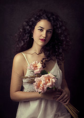Summer Rose (Giulia Valente) Tags: portrait portraiture woman beauty beautiful alone cinematic cinema movie story romance romantic one looking light shadow dark beam darkness mood moody atmosphere low key dream inspiring