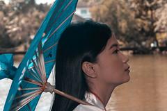 Conceptual Photoshoot - Kimono (AllanAnovaPhotos) Tags: japanese kimono costume girl woman filipina philippines quezon city quezoncity wildlife river portrait portraiture face close up closeup sonya6500 a6500 vivitar series 28105 f28 f2 8 sony photography vintage lens kf concept adapter adaptor