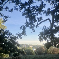 Tuesday Morning 8am (marc.barrot) Tags: hampstead heath london uk nw3 am green pale autumn park landscape church saintannes